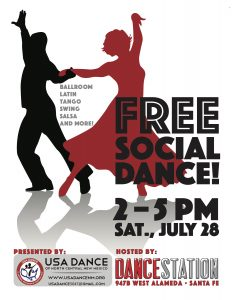 Poster for USA Dance in Santa Fe