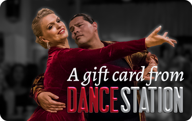 Dance Station gift card featuring Mary Miller and Lawrence Black